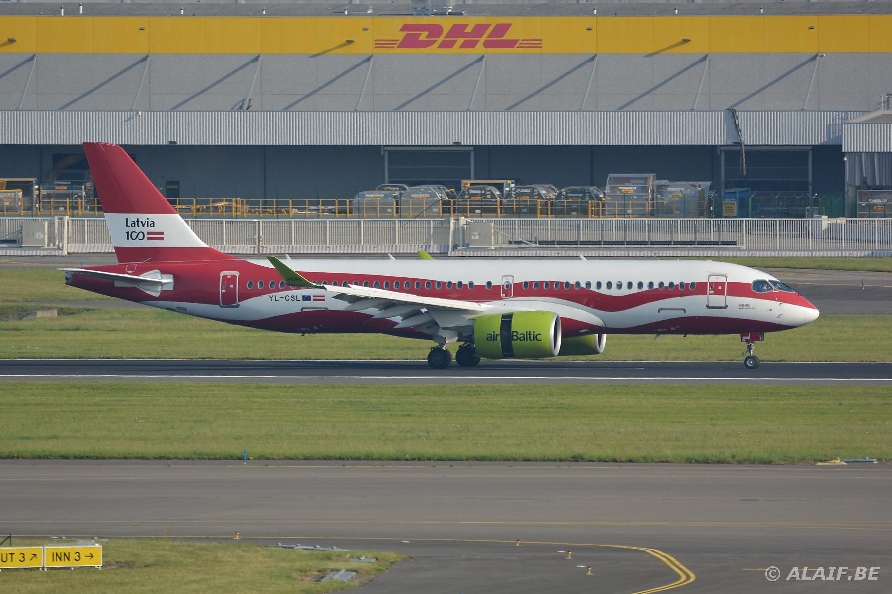 Special livery - First A220 picture on this site